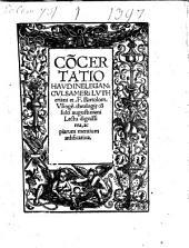 Concertatio haud inelegans Culsameri Lutheriani et F. Bartolom. Usingen ... lectu dignissima