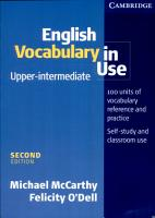 English Vocabulary in Use Upper Intermediate with Answers PDF