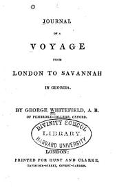 Journal of a voyage from London to Savannah in Georgia