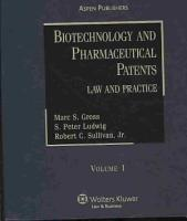 Biotechnology and Pharmaceutical Patents PDF