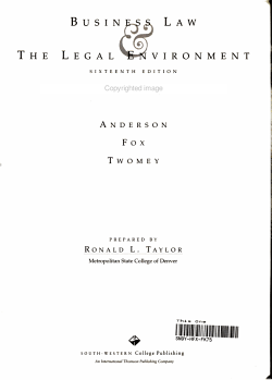 Business Law and the Regulatory Environment Comprehension PDF