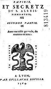 Empirie, et secrets du S. Alexis Piemontois (G. Ruscelli), Diuisez en six liures...