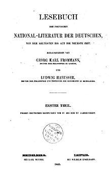 Altdeutshes Lesebuch vom IV  bis zum XV PDF
