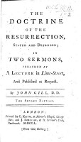 The Doctrine of the Resurrection Stated and Defended  in Two Sermons  on Acts Xxvi  8   Second Edition PDF