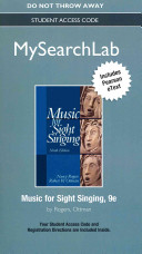 Mysearchlab with Pearson Etext    Student Access Card    For Music for Sight Singing Book