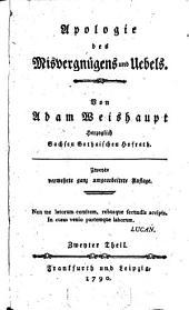Apologie des Misvergnügens und Uebels: Zweyter Theil, Band 2