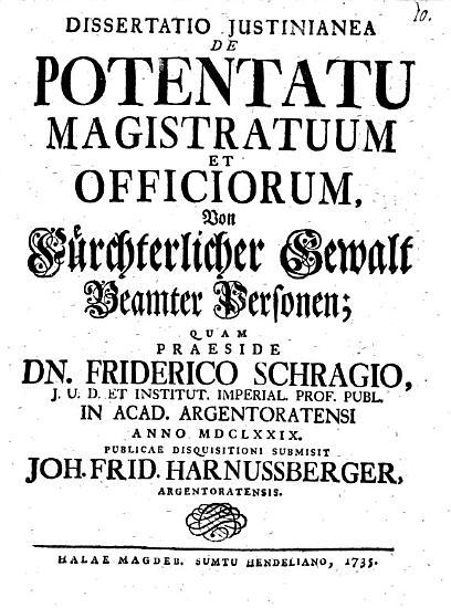 Diss      de potentatu magistratuum et officiorum PDF