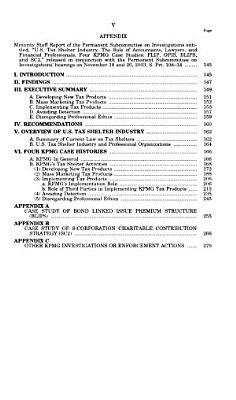 U S  Tax Shelter Industry PDF