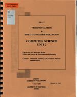 Draft Tiered Initial Study   Mitigated Negative Declaration  Computer Science Unit 3 PDF