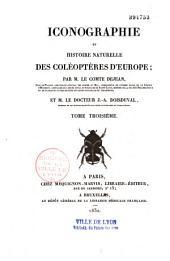 Iconographie ou histoire naturelle des coléoptères d'Europe: Volume1