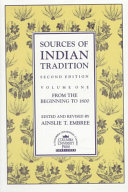 Sources of Indian Tradition  From the beginning to 1800 PDF