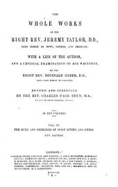 The Whole Works of the Right Rev. Jeremy Taylor: Volume 3