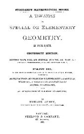 A TREATISE ON SPECIAL OR ELEMENTARY GEOMETFH.