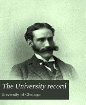 University Record: Volume 5