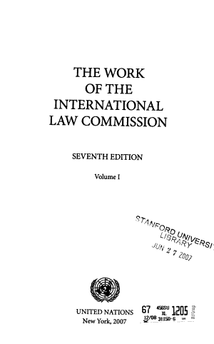 The Work of the International Law Commission PDF
