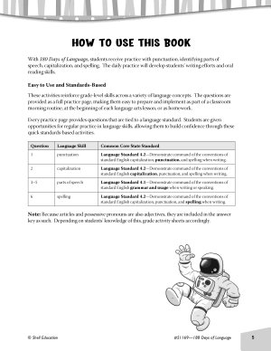 Daily Language Practice for Fourth Grade PDF