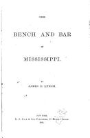 The Bench and Bar of Mississippi PDF