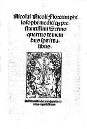 De medica materia VII sermonum liber: Volume 4