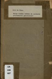 Welke boeken hebben de Leidsche professoren geschreven?: Volume 1