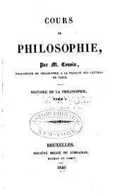 Histoire de la philosophie [t. 1-3