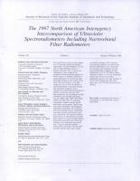 The 1997 North American Interagency Intercomparison of Ultraviolet Spectroradiometers Including Narrowband Filter Radiometers PDF