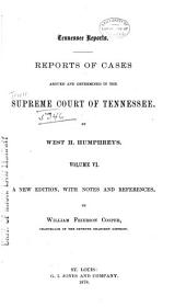 Reports of Cases Argued and Determined in the Supreme Court of Tennessee: Volume 25