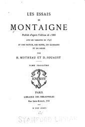 Les essais de Montaigne: Volume3