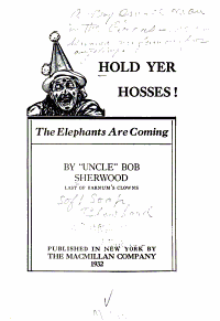 Hold Yer Hosses  The Elephants are Coming  PDF