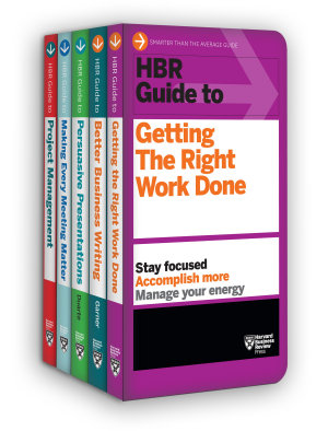 HBR Guides to Being an Effective Manager Collection  5 Books   HBR Guide Series