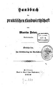 Handbuch der praktischen Landwirtschaft: Band 1