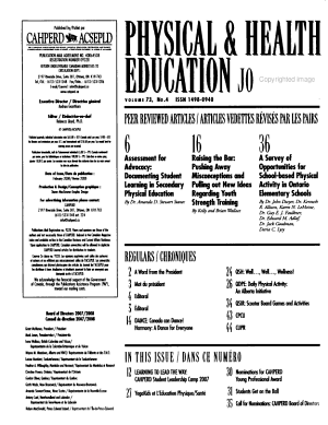 Physical   Health Education Journal