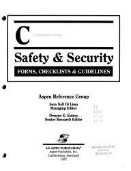 Campus Safety Security Forms Checklists Guidelines Book PDF
