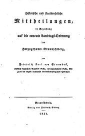 Staatswissenschaftliche Mittheilungen, vorzüglich in Beziehung auf das Herzogthum Braunschweig: Band 2