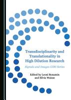 Transdisciplinarity and Translationality in High Dilution Research PDF