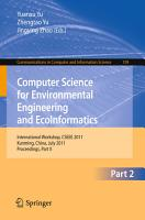 Computer Science for Environmental Engineering and EcoInformatics PDF