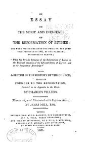 An essay on the spirit and influence of the reformation of Luther