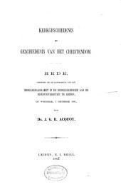 Kerkgeschiedenis en geschiedenis van het Christendom