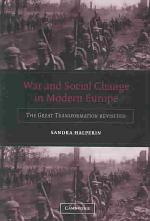 War and Social Change in Modern Europe