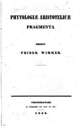 Phytologiae Aristotelicae fragmenta