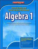 Algebra 1  Study Guide   Intervention Workbook PDF