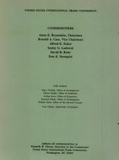 Drafting machines and parts thereof from Japan: determination of the commission in investigation no. 731-TA-432 (preliminary) under the Tariff Act of 1930, together with the information obtained in the investigation