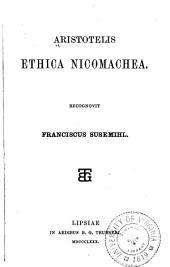 Aristotelis Ethica Nicomachea