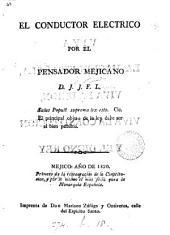 El Conductor eléctrico, por el Pensador mejicano, d. J.J.F.L.