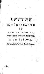 Lettre intéressante à un évèque sur le monastère de Port-Royal