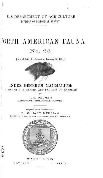 Download Index Generum Mammalium Book