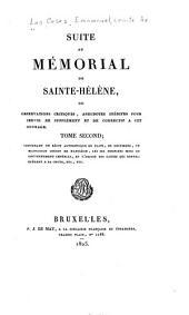 Mémorial de Sainte-Hélène: ou, Journal où se trouve consigné, jour par jour, ce qu'a dit et fait Napoléon durant dix-huit mois, Volume10