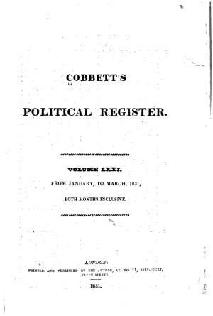 Cobbett s Political Register PDF