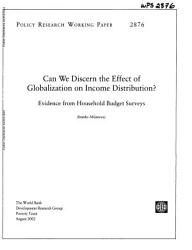 Can We Discern the Effect of Globalization on Income Distribution?