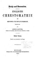 Englische Chrestomathie f  r den Schul und Privat Unterricht PDF