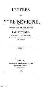 Lettres de Mme. de Sévigné